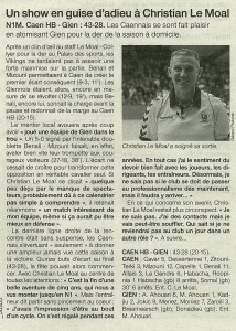 Caen - Gien 11.05.14