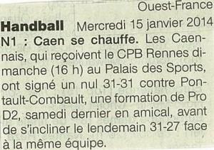 Caen HB 15.01.14