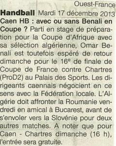 Caen HB 17.12.13
