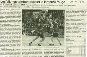 Caen HB - Lanester N1M 11.11.2013