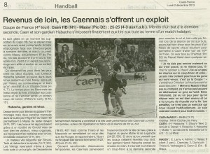 Caen HB - Massy 02.12.13