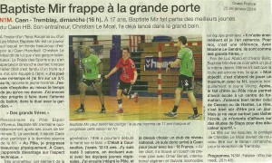 Caen Hb - Tremblay 26.01.14