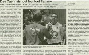 Caen Hb - Tremblay 27.01.14