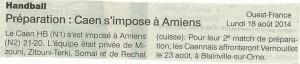 Caen hb le 18-08-2014