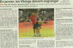 Cean HB - Rennes 19.01.14