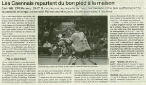 Cean HB - Rennes 21.01.14