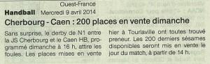Cherbourg - Caen 09.04.14