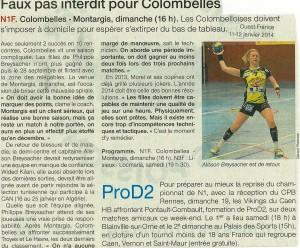 Colombelles - Montargis 11.01.14