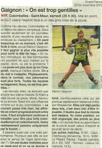Colombelles - St-Maur 23.11.13