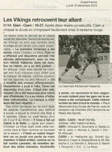 Gien - Caen HB N1M 16.12.13