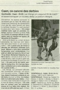 Gonfreville - Caen HB N1M 09.12.13