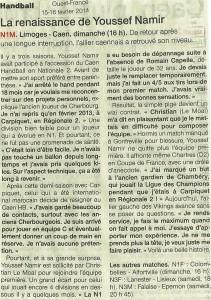 Limoges - Caen N1M 16.02.14