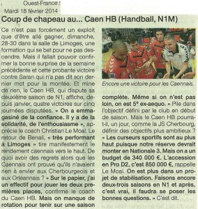 Limoges - Caen N1M 18.02.14