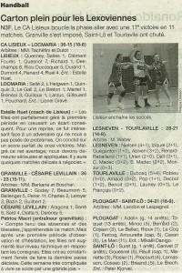 Lisieux - Locmaria 13.01.14