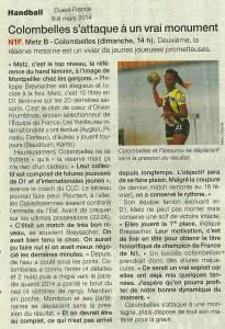 Metz - Colombelles 09.03.14