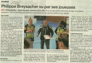 Philippe B vu par ses joueuses 10.05.14