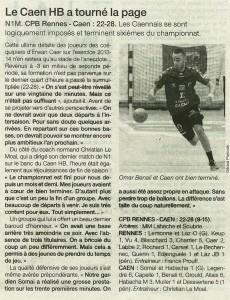 Rennes - Caen HB 19.05.14