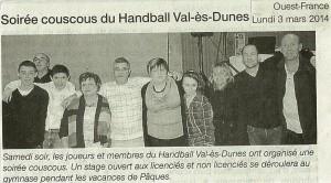 Soirée Couscous Mars 2014