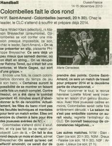 St-Amand-les-Eaux - Colombelles N1F 15.12.13