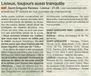 St Grégoire-Rennes - Lisieux N3F 25.11.13