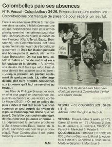 Vesoul - Colombelles N1M 09.12.13