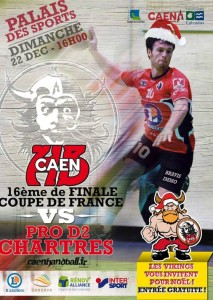 affiche coupe de france caen 22-12-2013