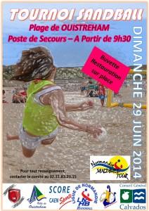 affiche sandball A4