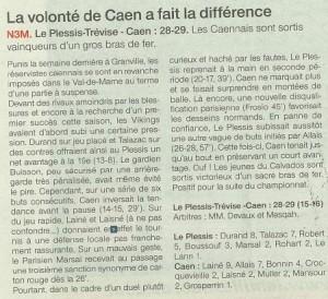 Caen hb N3 11-10-14